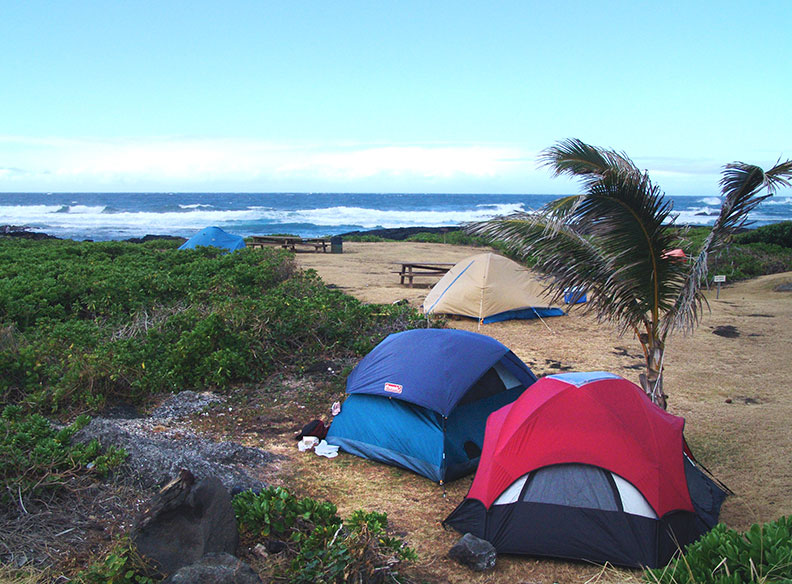Camping in Hamakua Coast